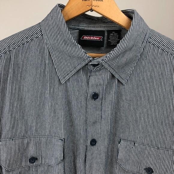 11b387a118 Dickies Shirts | Hickory Stripe Cotton Shortsleeved Shirt | Poshmark